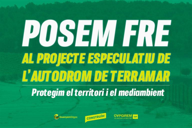 Construïm, Guanyem Sitges i Capgirem VNG Cup recorren a la via legal per posar fre al projecte de l'Autòdrom de Terramar